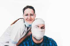 Bandaged patient Royalty Free Stock Photography