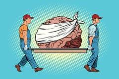 Bandaged riguarda la riparazione del cervello illustrazione di stock