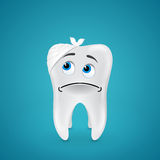 Bandaged sad tooth Stock Images