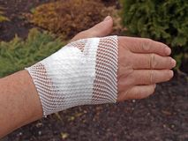 Bandaged wrist Stock Photography