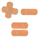 Bandages. Group of medical first aid plaster Stock Photos