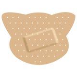 Bandages adhésifs formant un chat Images stock