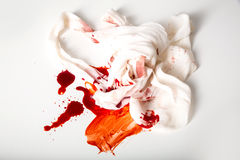 Bandages and Blood Stock Photos