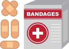 Bandages Box Royalty Free Stock Photos