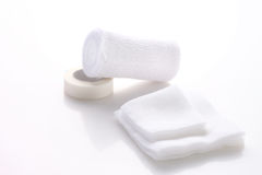 Bandages and surgical tape Royalty Free Stock Photos