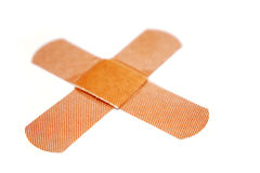 Bandages on white Stock Images