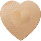 bandaid сформированное сердце Стоковые Фото