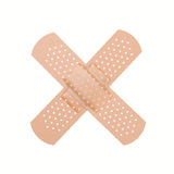 Bandaid. Cross of bandage on white background Stock Photo