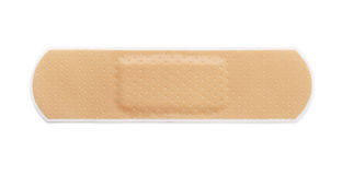 Bandaid. Adhesive bandage isolated on white Stock Photo