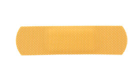 Bandaid stripe. On pure white background Royalty Free Stock Photography
