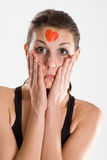bandaids kobieta zdjęcie stock