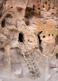Bandalier National monument, new mexico. Caves and ruins of native indian civilization Royalty Free Stock Images