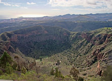 Bandama crater. View from the Pico de Bandama over the Bandama Crater on Gran Canaria royalty free stock photos