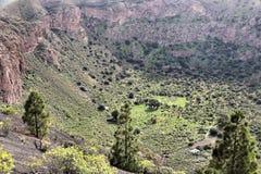 Bandama, Gran Canaria. Caldera de Bandama - volcanic landscape of Gran Canaria, Spain stock image