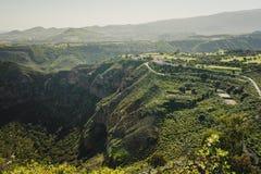 The Bandama Natural Monument volcanic crater near Las Palmas, Gran Canaria. Canary Islands stock image