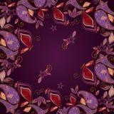 Bandana, γεωμετρικό σχέδιο με το Paisley και πεταλούδες Διανυσματικό τετράγωνο τυπωμένων υλών Στοκ Φωτογραφία