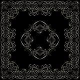 Bandana, γραπτό σχέδιο με τα τριαντάφυλλα Διανυσματικό τετράγωνο τυπωμένων υλών Στοκ φωτογραφία με δικαίωμα ελεύθερης χρήσης
