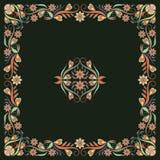 Bandana, φωτεινό σχέδιο με τα λουλούδια Διανυσματικό τετράγωνο τυπωμένων υλών Στοκ εικόνες με δικαίωμα ελεύθερης χρήσης