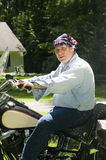 американский мотоцикл человека флага bandana Стоковые Изображения