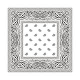 Bandana 2 (White) stock illustration