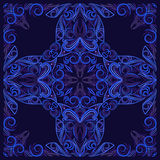 Bandana black and blue.  Vector print square. Stock Image