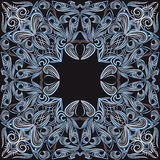 Bandana black and blue.  Vector print square. Royalty Free Stock Photography