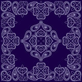 Bandana blue and white paisley . Vector print square. Stock Image
