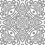 Bandana / Bandhani seamless pattern Royalty Free Stock Images