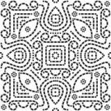Bandana / Bandhani seamless pattern royalty free stock images
