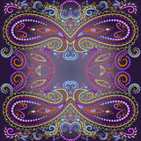 Bandana bright colors.  Vector print square. Traditional ethnic ornamental pattern with paisley and flowers. Etno design Stock Photography
