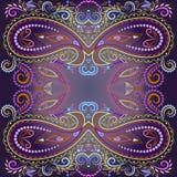 Bandana bright colors.  Vector print square. Stock Photography