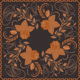 Bandana, bright pattern with roses . Vector print square. Royalty Free Stock Images