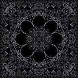 Bandana classy black and white. Vector print square. Royalty Free Stock Photos