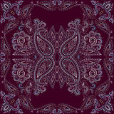 Bandana classy. Vector print square. Royalty Free Stock Images