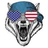 Bandana d'uso dell'animale selvatico animale di Wolf Dog Wild Immagini Stock Libere da Diritti