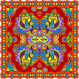 Bandana floral decorativo tradicional de Paisley Imagens de Stock Royalty Free