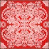 Bandana floral ornamental tradicional de Paisley stock de ilustración
