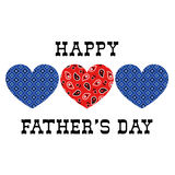 Bandana hearts fathers day. Vector graphic Royalty Free Stock Photography