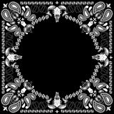 Bandana pattern with goat skull Stock Photography