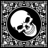 Bandana pattern with skull Royalty Free Stock Photography