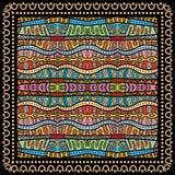 Bandana Print, silk neck scarf or kerchief square Royalty Free Stock Photos
