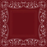 Bandana red and white with paisley and flowers. Vector print square. Royalty Free Stock Image