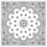 bandana-white royalty free illustration