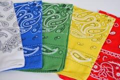 Bandanas coloridos imagem de stock royalty free