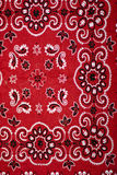 Bandanna. A paisley pattern bandanna in red, white and black Stock Image