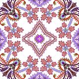 Seamless pattern with decorative leaves and elements Stock Images