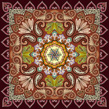 Bandanna with colorful, openwork design, decorated with paisley Stock Photo