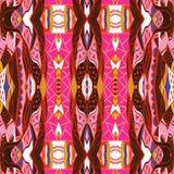 Bandanna decorativo tradicional de paisley Entregue o teste padrão asteca colorido tirado com teste padrão artístico Imagem de Stock Royalty Free