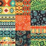 Bandanna e retalhos nativos da tela do lenço dos motivos Imagem de Stock Royalty Free