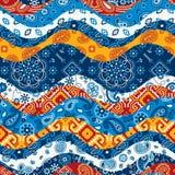 Bandanna e retalhos nativos da tela do lenço dos motivos Fotos de Stock
